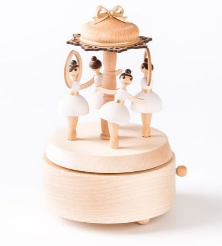 Ballerinas Wooden Music Box from PAPYRUS