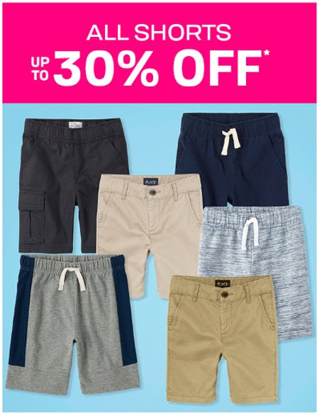 All Shorts Up to 30% Off from The Children's Place Gymboree