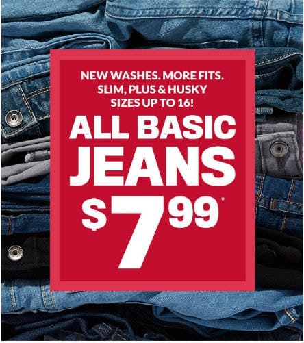 All Basic Jeans $7.99 from The Children's Place