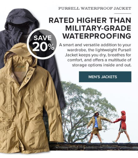 Save 20% Pursell Waterproof Jacket from Orvis
