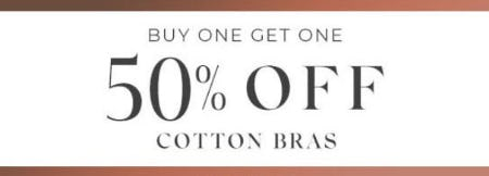 Buy One, Get One 50% Off Cotton Bras from Lane Bryant