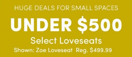 Under $500 Select Loveseats from Cost Plus World Market