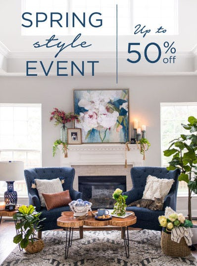 Up to 50% Off Spring Style Event from Kirkland's Home