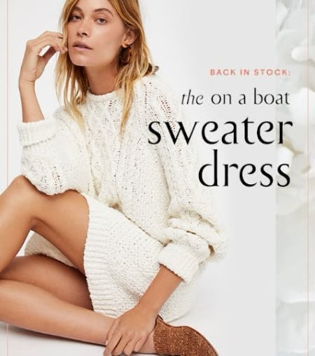 The On A Boat Sweater Dress