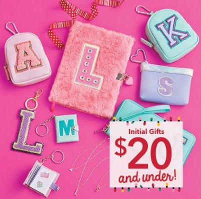Merry Deals, Initial Gifts $20 and under! from Claire's