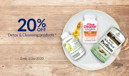 20% Off Detox & Cleansing Products from The Vitamin Shoppe