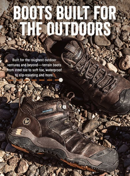 Terrain Boots for the Outdoorsman from Boot Barn Western And Work Wear