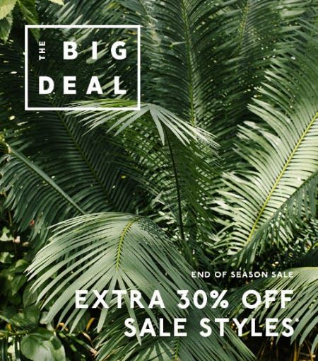 Extra 30% Off End of Season Sale