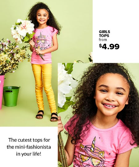 Girls Tops From $4.99 from Rainbow