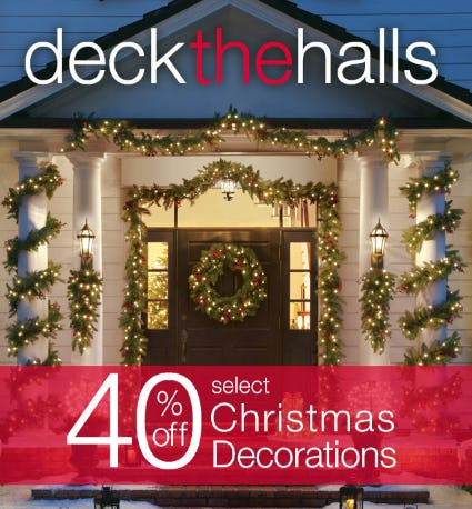 40% Off Select Christmas Decorations