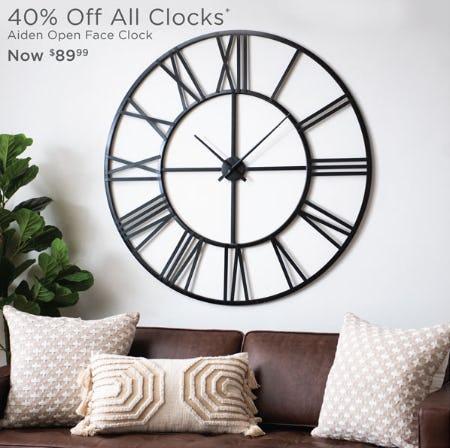 40% Off All Clocks from Kirkland's
