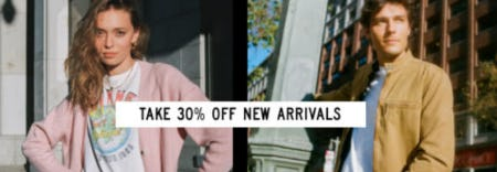 Take 30% Off New Arrivals