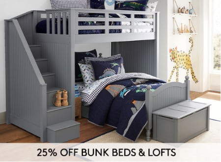 25% Off Bunk Beds & Lofts from Pottery Barn Kids
