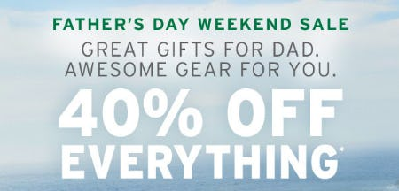 40% Off Everything from Eddie Bauer