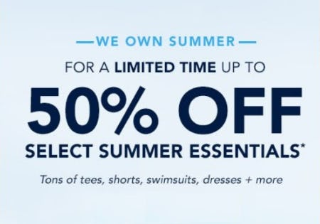 Up to 50% Off Select Summer Essentials from vineyard vines