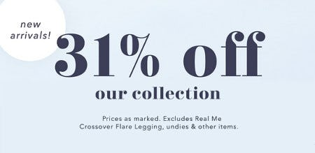 31% Off Our New Collection from Aerie