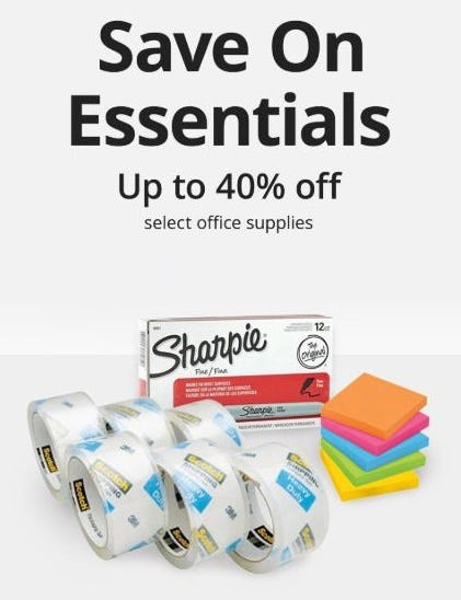 Up to 40% Off Select Office Supplies