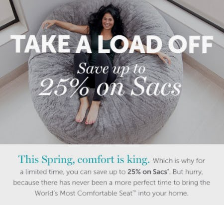 Save Up to 25% on Sacs from Lovesac