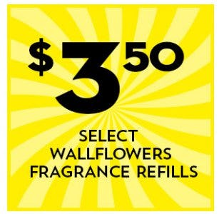 $3.50 Select Wallflowers Fragrance Refills from Bath & Body Works/White Barn