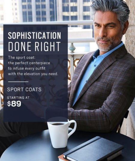 Sport Coats Starting at $89 from Men's Wearhouse