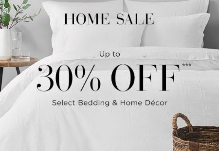 Home Sale Up to 30% Off from Saks Fifth Avenue