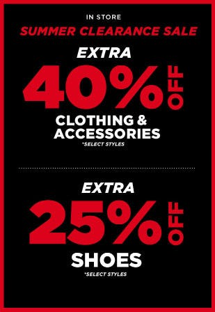 Extra 40% Off Clothing & Accessories and Extra 25% Off Shoes from Tillys