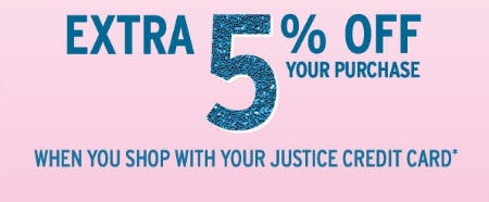 Extra 5% Off Your Purchase from Justice