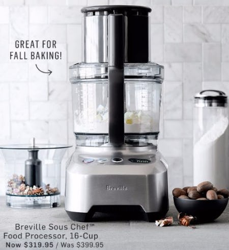 20% Off Brevillle Food Processors
