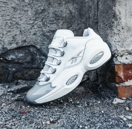 """Classic in Grey: Reebok Question Low """"Grey Toe"""" from DTLR"""