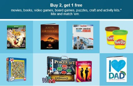 Buy 2, Get 1 Free Moves, Books & More