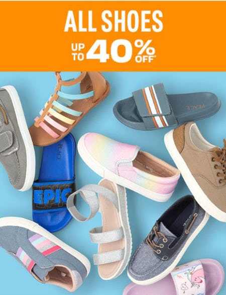 All Shoes up to 40% Off from The Children's Place Gymboree
