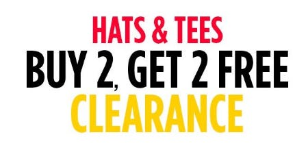 B2G2 Free Clearance Hats & Tees from Spencer's Gifts