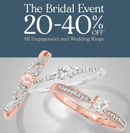 20-40% Off All Engagement and Wedding Rings