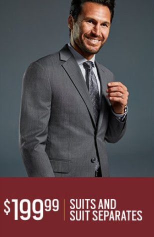 $199.99 Suits and Suit Separates from Men's Wearhouse and Tux