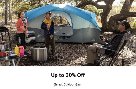 Up to 30% Off Select Outdoor Gear