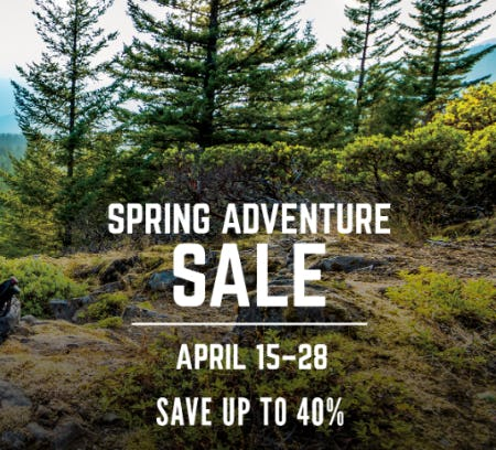 Save up to 40% Spring Adventure Sale from Cabela's