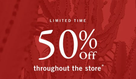 50% Off Throughout The Store from Abercrombie & Fitch