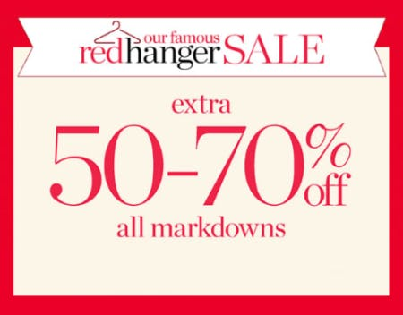 Extra 50-70% Off Red Hanger Sale from Talbots