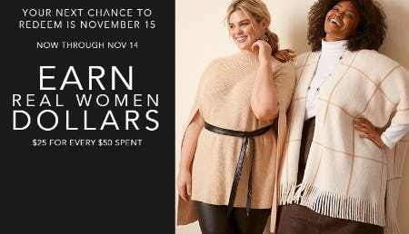 Earn Real Women Dollars from Lane Bryant