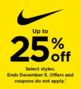 Up to 25% Off Nike from Kohl's