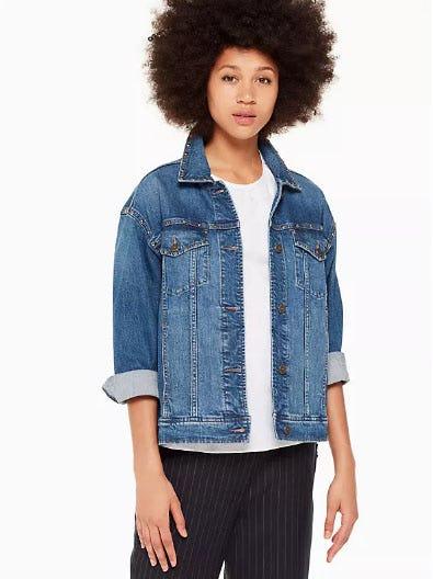 Oversized Denim Jacket from kate spade new york
