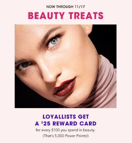 Loyallists Get a $25 Reward Card