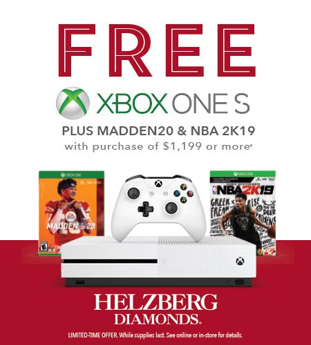 FREE XBOX ONE S from Helzberg Diamonds