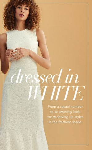 Dressed in White from Saks Fifth Avenue