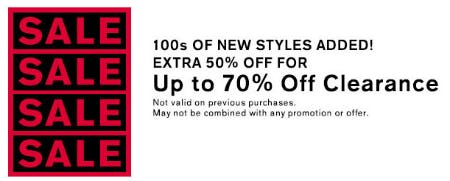 Extra 50% Off Clearance from Express