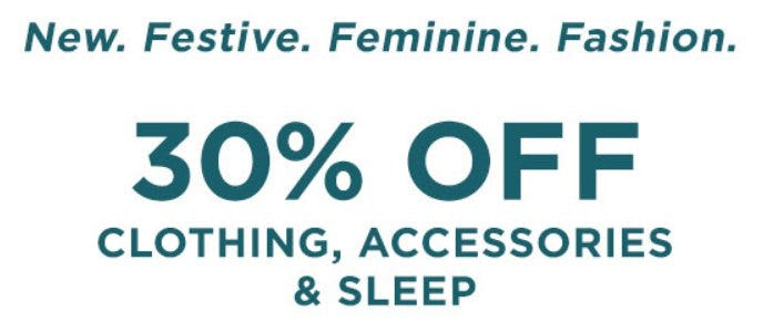 30% Off Clothing, Accessories & Sleep from Lane Bryant