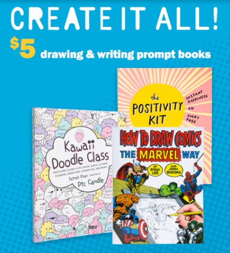 $5 Drawing & Writing Prompt Books from Five Below