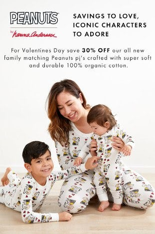 30% Off All New Family Matching Peanuts PJ's