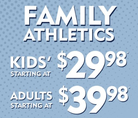 Family Athletics: Kids' Starting at $29.98 and Adults Starting at $39.98 from Shoe Carnival