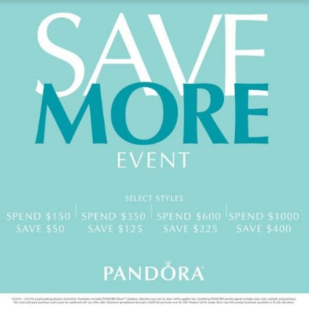 Save More Event from PANDORA
